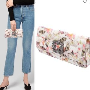 Manolo Blahnik Gothisi Butterfly print clutch
